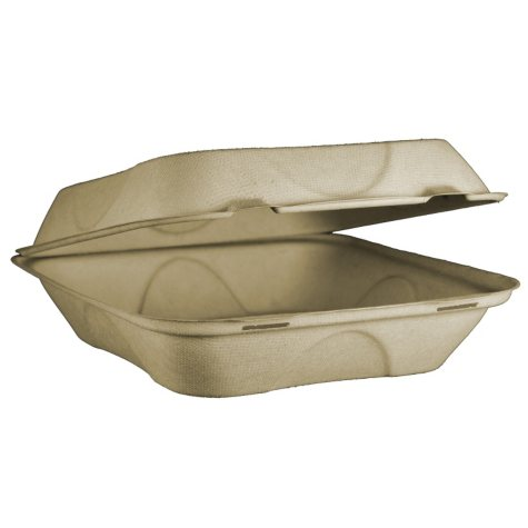 """World Centric 9"""" To-Go Clamshells (300 ct.)"""
