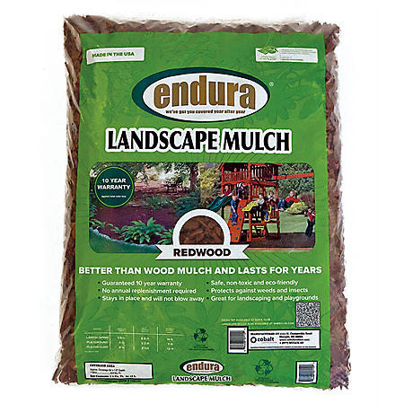 Endura Rubber Landscape Mulch - Redwood Color - 29 lbs.
