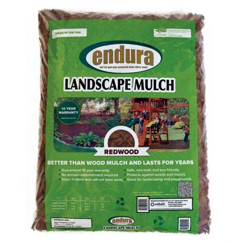Endura Rubber Landscape Mulch - Redwood Color - 29 lbs.