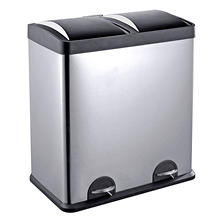 Step'N'Sort Recycle Stainless Steel Trash Can (16 gal.)