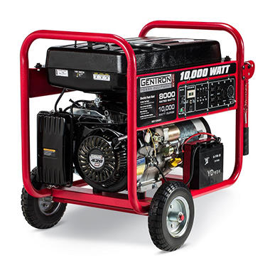 Gentron 8,000W / 10,000W Portable Gas Powered Generator with Electric Start