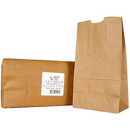 6# Kraft Paper Bags - 500ct