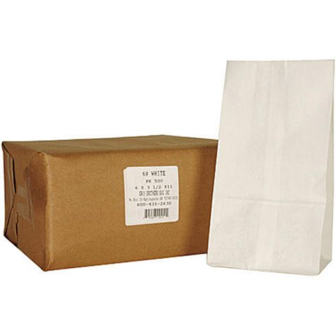 6# White Paper Bag  - 500ct