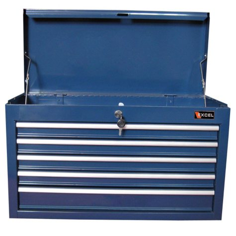 "Excel Blue Steel Top Chest 26"" W x 12"" D x 15.9"" H"