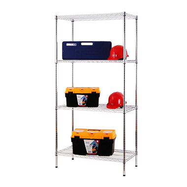 Excel Heavy-Duty 4-Tier Wire Shelving - 36