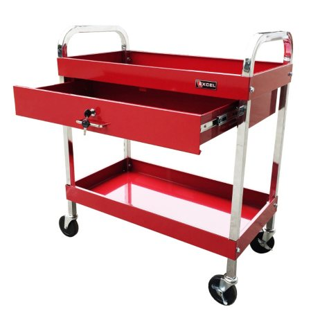 "Excel Red Steel Tool Cart 30"" x 16"" x 35.2"""