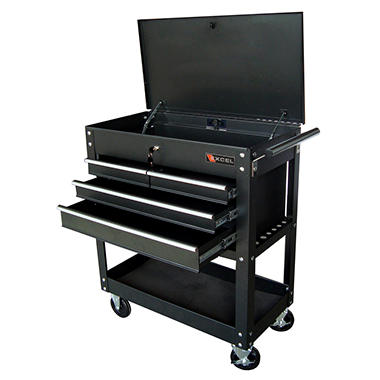Excel Black Professional Tool Cart