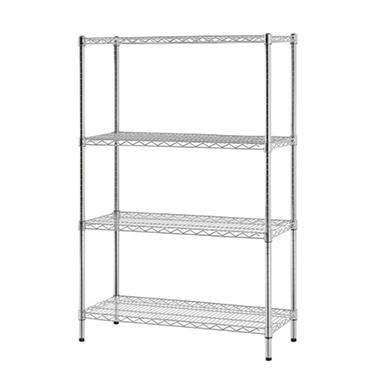 Excel 4-Level Wire Shelving - Chrome (48
