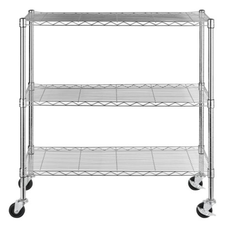 "Excel 36"" Multipurpose Wire Shelving (Chrome or Black)"