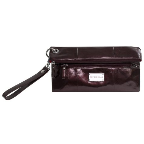 Amy Michelle Poppy Clutch with Changing Pad, Chocolate