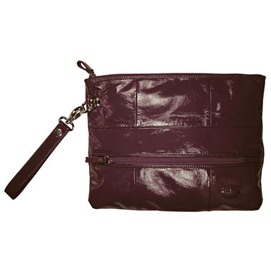 Amy Michelle Poppy Clutch, Eggplant