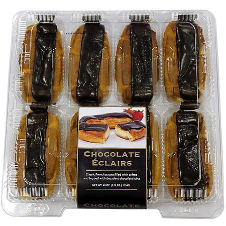 Chocolate Éclairs (40 oz., 8 ct.)