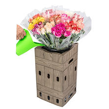Prewrapped Bouquets with Half Dozen Roses and Display Box (15 bouquets)