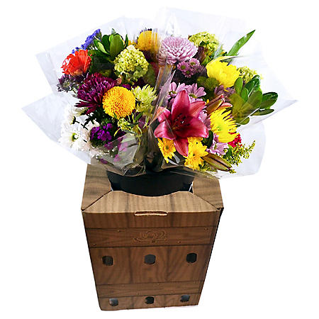 Prewrapped Mixed Bouquets with Display Box (10 bouquets)