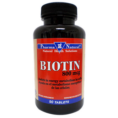Pharma Natural Biotin - 800MCG 90 Tabs - Twin Pack