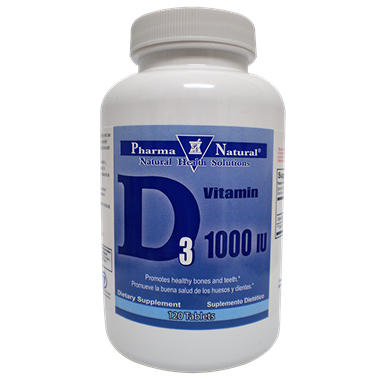 Pharma Natural Vitamin D 1000IU Tabs - 120 ct. - Twin Pack