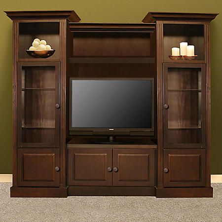 """Curtis Mathes 104"""" Home Theater Cabinet - Mocha"""