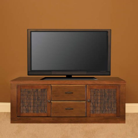"Curtis Mathes 70"" TV Console w/ Bamboo-Cherry"