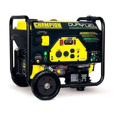 Champion 3,500W / 4,000W (Gasoline/Propane) Electric Start Generator (2 models available)