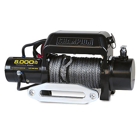Champion 8000 lb Truck/SUV Winch Kit with Synthetic Rope