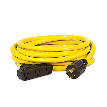 Champion 25ft Generator Cord, L5-30P to (3) 5-15R
