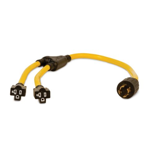 Champion 3ft Generator Cord, L14-30P to (2) 5-20R