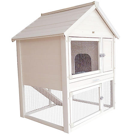 ecoFLEX Huntington Two-Level Rabbit Hutch, Holds 2-3 Rabbits