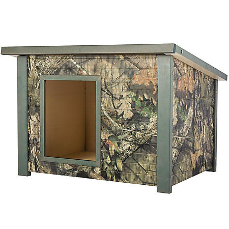 "ECOFLEX Rustic Style Dog House, Medium, Mossy Oak, For Dogs Up To 40 lbs. (28.9"" x 36.2"" x 25.5"")"