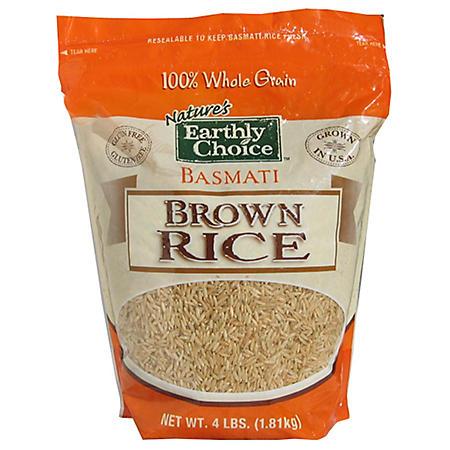 Nature's Earthly Choice Brown Basmati Rice - 4 lbs.
