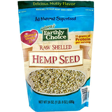 Nature's Earthly Choice Raw Hemp Seed (24 oz.)