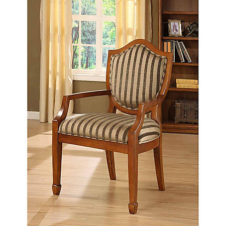 Dorchester Striped Fabric Occasional Chair