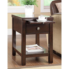 Prescot Cappuccino Side Table