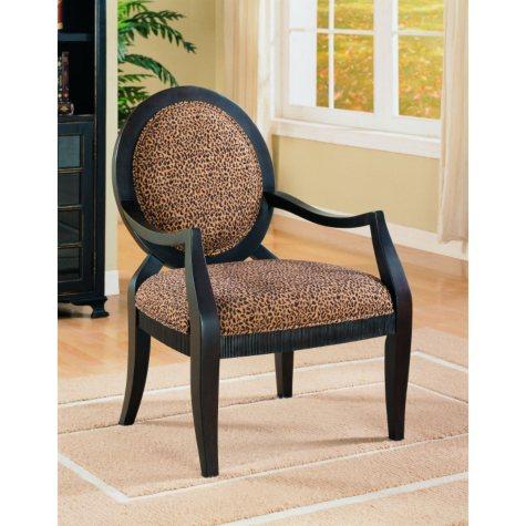 Panthera Leopard Print Fabric Chair