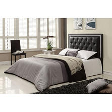 Adriana Black Leatherette Headboard (Choose Size)