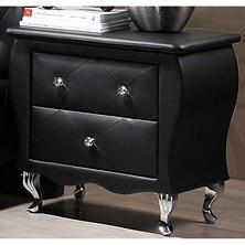 viviene 2 drawer nightstand black