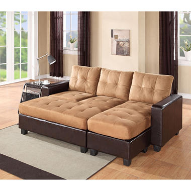 aspen reversible chaise sectional choose color