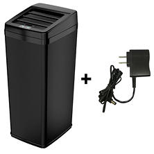 top rated itouchless automatic sensor trash can with space saving lid black steel 14 gal