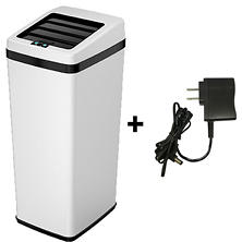 iTouchless Steel Automatic Sensor Touchless Trash Can with Space Saving Lid - 14 Gallon