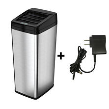 iTouchless Automatic Sensor Trash Can with Space Saving Lid, Stainless Steel (14 gal)