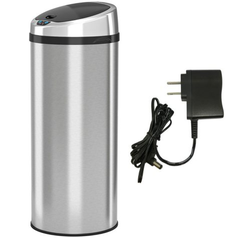 iTouchless Round Automatic Sensor Trash Can, Stainless Steel (13 gal)