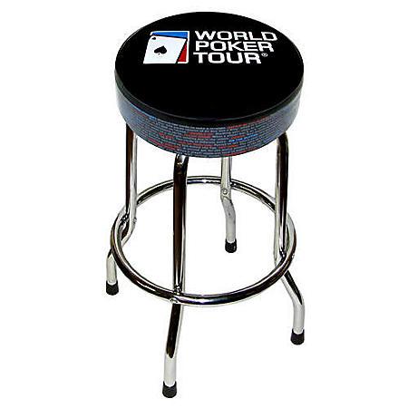 "World Poker Tour Glossary Barstool - 30"" - Black"