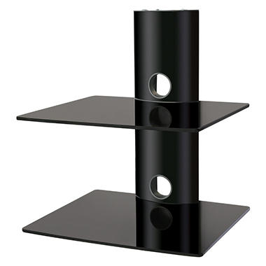 Ready Set Mount Double Wall-Mount Component Shelf