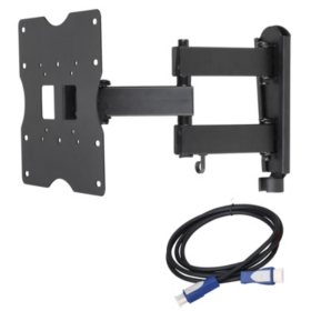 "Ready Set Mount Full Motion Mount Kit for 18""-40"" TVs, extends 13.70"""