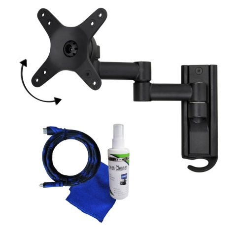 "Ready Set Mount Full Motion Mount Kit for 13""-37"" TVs, extends 10.87"""