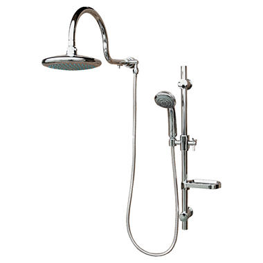 PULSE AquaRain ShowerSpa with Adjustable Slide Bar in Chrome