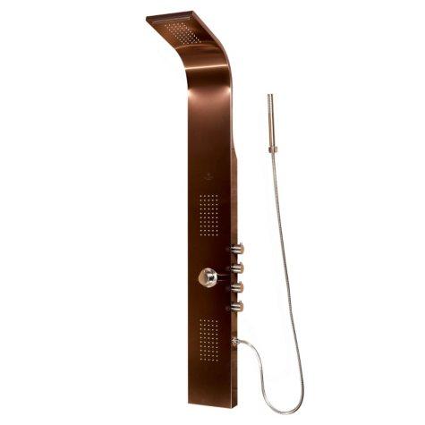 PULSE Santa Cruz ShowerSpa Stainless Steel Shower Panel - Brushed Bronze