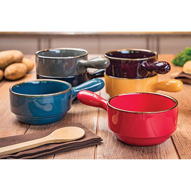 Stacking Bowls With Handles Set Of 6 Sam S Club