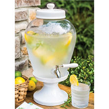 Ceramic Pedestal Beverage Dispenser (2.5 gal.)