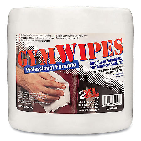 2XL Gym Wipes Professional, 6 x 8, Unscented, (4 pk., 700 ct.)