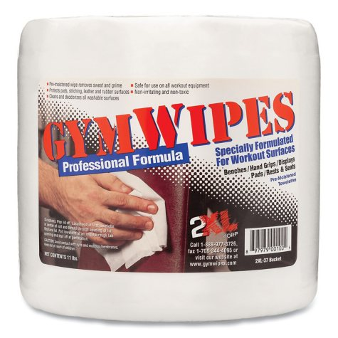 2XL - Antibacterial Gym Wipes Refill, 6 x 8, Unscented, 700/Pack -  4 Packs/Carton